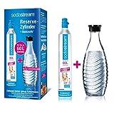 SodaStream Reservepack mit Glaskaraffe (1 x CO2-Zylinder für 60L und 1 x 0,6L Glaskaraffe)