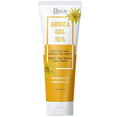 Arnika Gel 95%100 ml, Schnuller mit Arnika Montana, Buriti Öl, Salbei und Ringelblumenextrakten, ätherischen Thymian und Mentholölen, Natürlich bei 97,5%