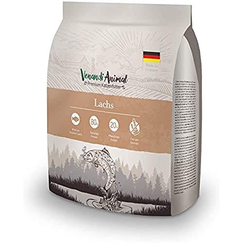 Venandi Animal Premium Trockenfutter für Katzen, Lachs,getreidefrei mit viel frischem Lachs, 300 g
