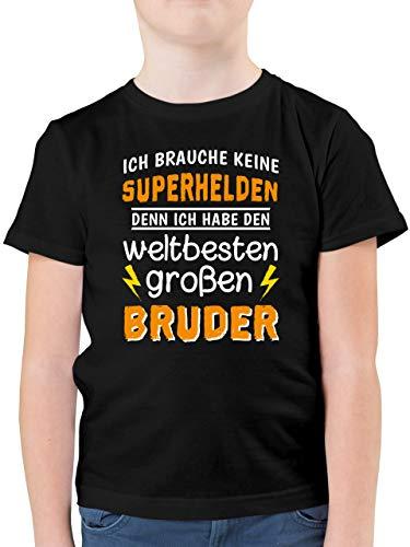Geschwister Bruder und Schwester - Ich Habe den weltbesten großen Bruder - 128 (7/8 Jahre) - Schwarz - Familie - F130K - Kinder Tshirts und T-Shirt für Jungen