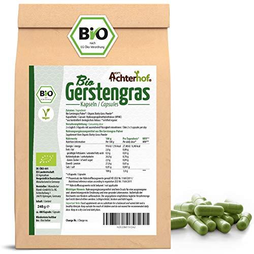 Gerstengraskapseln Bio Nachfüllpack | 400 Stück | direkt vom Achterhof | aus deutschem Anbau