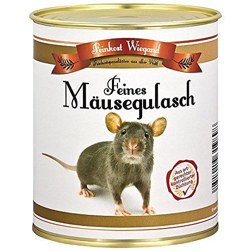 Mäusegulasch aus der Dose – Geschenk zu Weihnachten, Nikolaus, Scherzartikel, Wichtelgeschenk, Geburtstagsgeschenk, lustige Geschenkidee