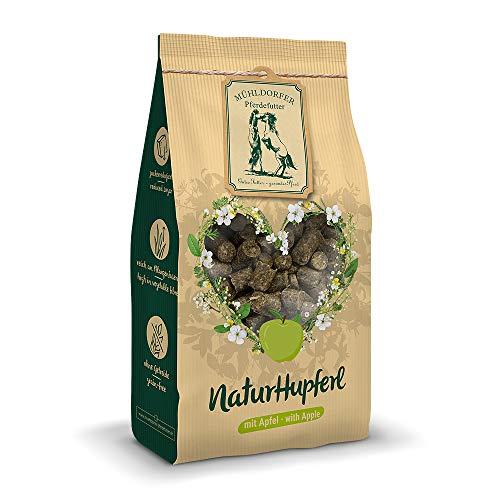 Mühldorfer NaturHupferl Apfel, 1 kg, naturgesunde Leckerli für Pferde, getreidefrei, ohne Melasse und Zusatzstoffe, zucker- und stärkereduziert