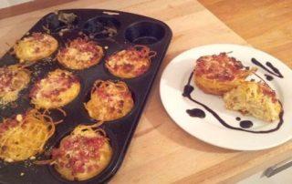 Carbonara-Muffins Fingerfood