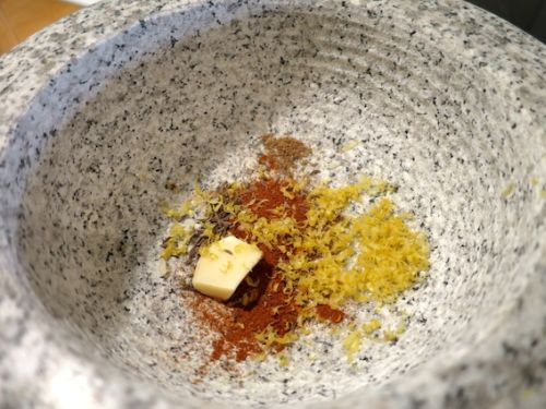 Couscous Lachs mit Senf-Minze Spargel_3