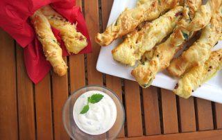 Blätterteigstangen Fingerfood