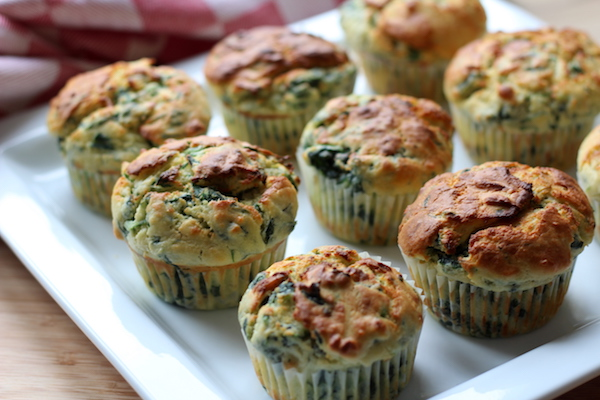 Ricotta-Spinat Muffins