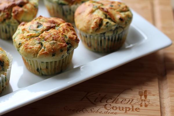 Ricotta-Spinat Muffins 2